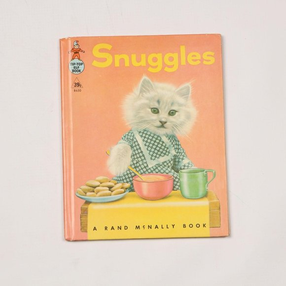 Vintage 1958 Snuggles a Real Live Animal Book